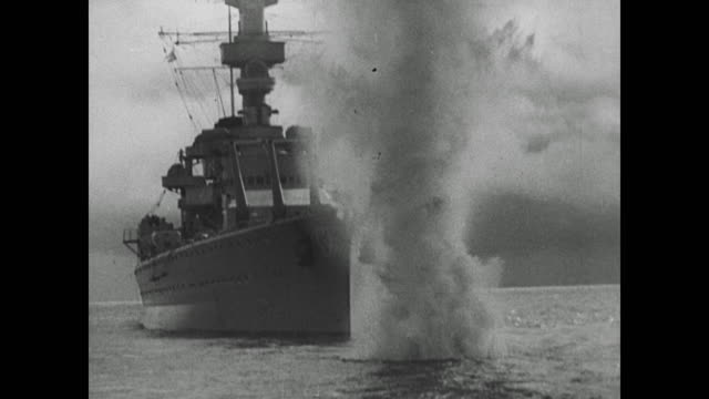 vídeos de stock e filmes b-roll de wwii french reserves called up and british planes bomb german war ships in the kiel canal to enforce pact following invasion of poland - 1939