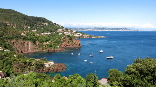 french riviera. cote d'azur. - cote d'azur stock videos & royalty-free footage