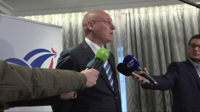 french rugby federation president bernard laporte announces that guy noves has been sacked as france coach after two torrid years at the helm with... - nachfolger stock-videos und b-roll-filmmaterial