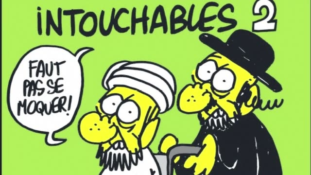 vídeos de stock, filmes e b-roll de french satirical weekly charlie hebdo confirmed on tuesday that its latest edition contains several cartoons which feature caricatures of the prophet... - sátira