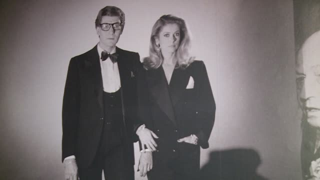 french screen legend catherine deneuve's personal clothing collection designed by her friend yves saint laurent will go under the hammer in paris... - saint laurent stock videos & royalty-free footage