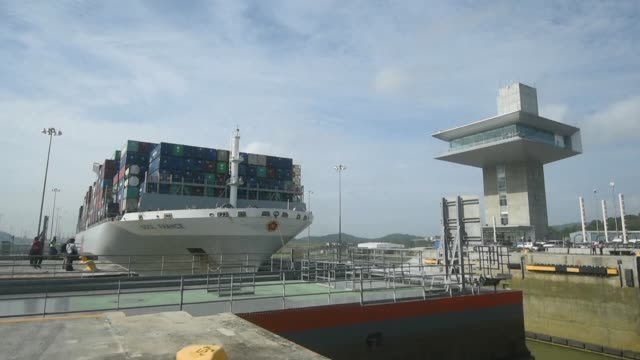 A French ship became the biggest yet to pass through the Panama Canal on Wednesday after the canal underwent construction last year to deal with...