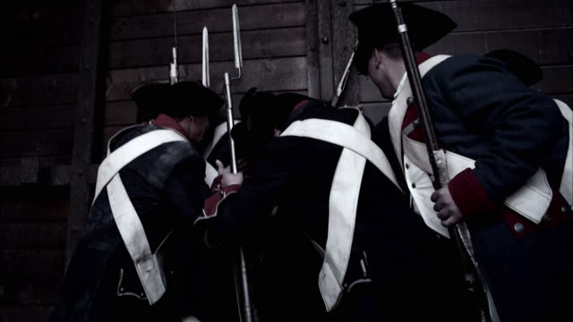 french soldiers charge the bastille. - french revolution stock videos & royalty-free footage