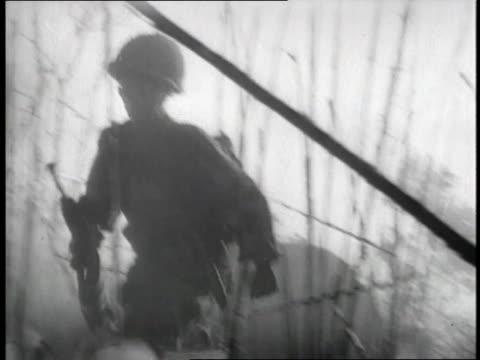 french soldiers fight the vietnamese in dien bien phu. - vietnam video stock e b–roll