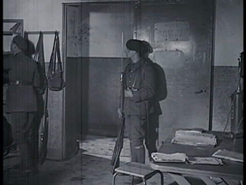 french soldiers leaving room running through tunnels leaving bunkers. soldier waking up men in bunk beds. vs soldiers getting ready boots clothes.... - maginot linie stock-videos und b-roll-filmmaterial