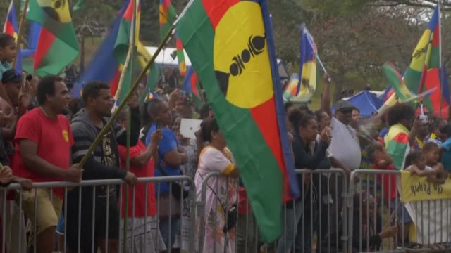 french south pacific territory of new caledonia votes in a referendum on independence sunday, with voters expected to reject breaking away from... - south pacific ocean stock videos & royalty-free footage