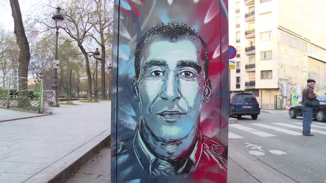 french stencil artist christian guemy aka c-215 has become an international icon in the street art scene - stencil stock videos & royalty-free footage