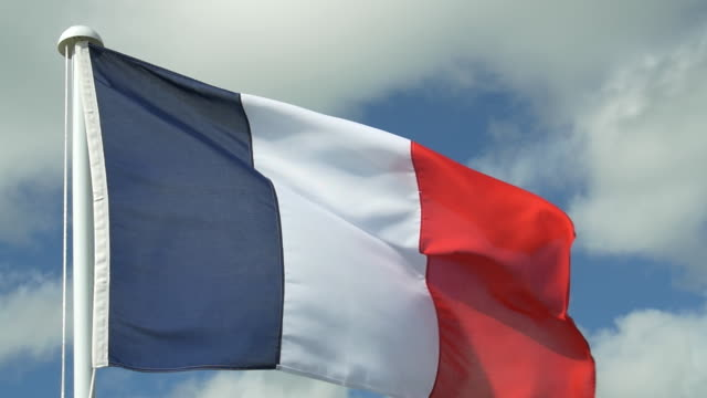 french tricolour - french flag stock videos & royalty-free footage