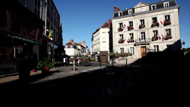 stockvideo's en b-roll-footage met french village - kerktoren