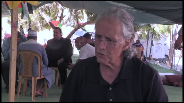 frenchamerican law professor and writer frank romano came to jerusalem to support of the community of khan alahmar region in east jerusalem facing... - deported stock videos & royalty-free footage