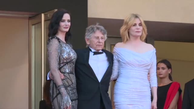 stockvideo's en b-roll-footage met frenchpolish director roman polanski presents his latest film based on a true story out of competition at cannes featuring eva green - roman polanski
