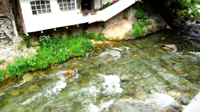 freser river in ribes de freser village - tranquillising stock videos & royalty-free footage
