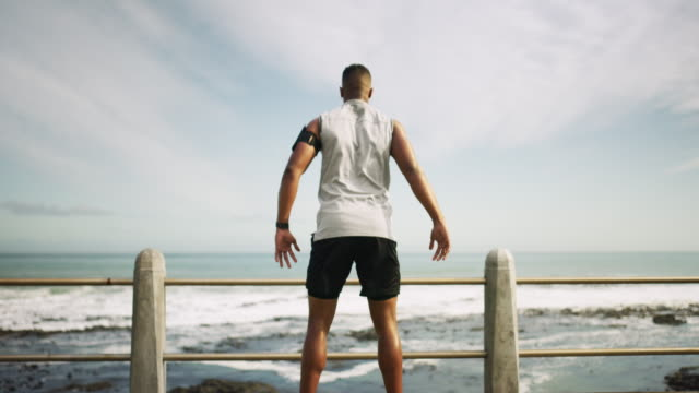 fresh air and fitness - one man only stock videos & royalty-free footage