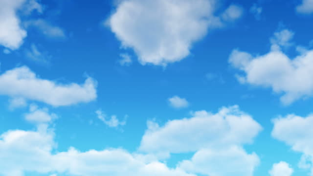 fresh animated clouds loop - cumulus stock videos & royalty-free footage