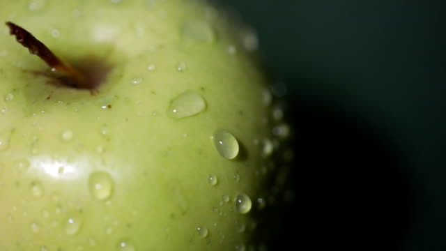 fresh apple close up - extreme close up stock videos and b-roll footage