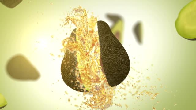 vídeos de stock, filmes e b-roll de abacate fresco (câmera lenta) - preocupação com o corpo