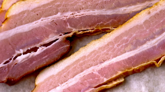 fresh bacon - bacon stock videos and b-roll footage