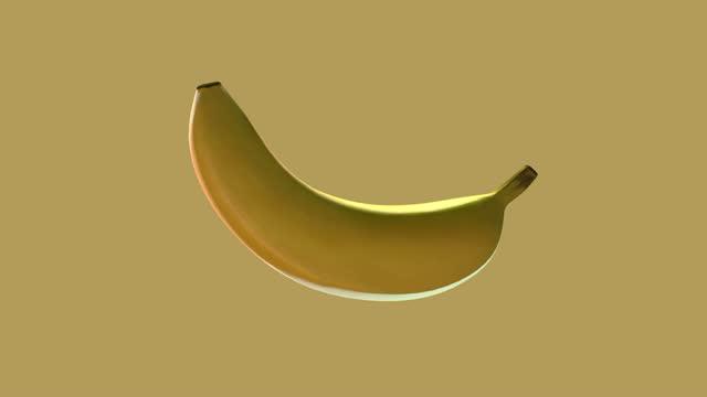 vidéos et rushes de bananes fraîches tournant sur le fond d'isolement - en l'air