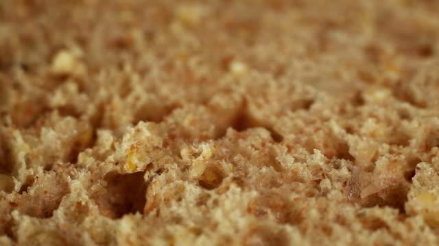 fresh bread macro shoot - brown bread stock videos and b-roll footage