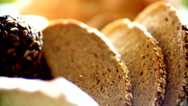 fresh breads and rolls. - bakery stock videos and b-roll footage