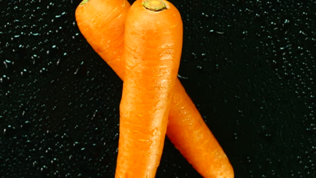 Fresh carrot. Top view. Close up.