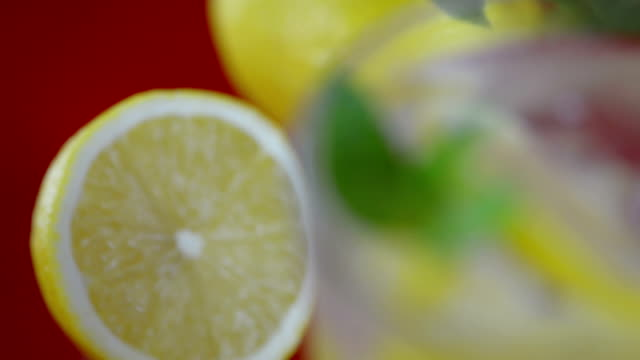 fresh cold lemon drink - fizzy lemonade stock videos & royalty-free footage