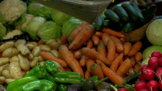 fresh food at a local market