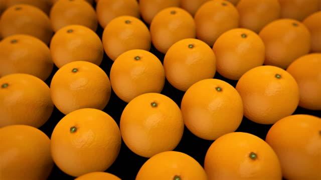 fresh fruit orange, 4k animation 3d render. - potassium stock videos & royalty-free footage