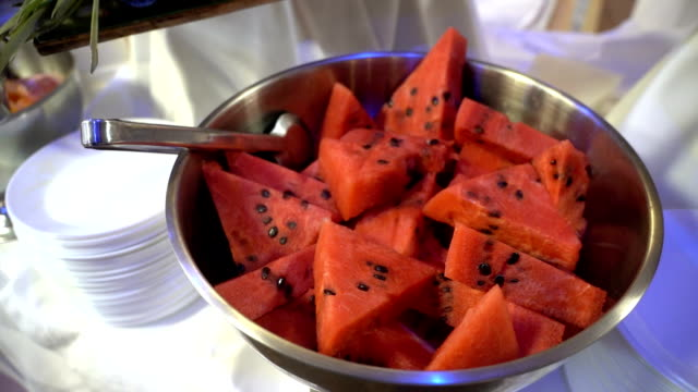 fresh fruit served on buffet table - ascorbic acid stock videos & royalty-free footage
