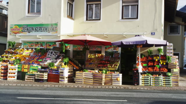 Fresh Fruit Shop in the Center of Reutte