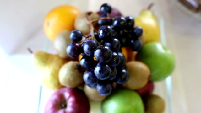 fresh fruits buffet table - appetizer stock videos & royalty-free footage