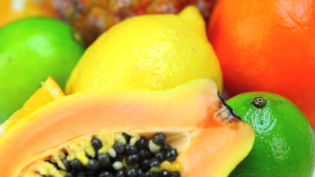 fresh fruits close-up dolly shot - frische stock videos & royalty-free footage
