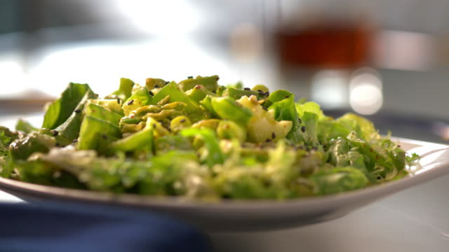 fresh green salad - green salad stock videos & royalty-free footage
