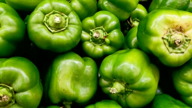 fresh green vegetables in the supermarket. - peperone video stock e b–roll