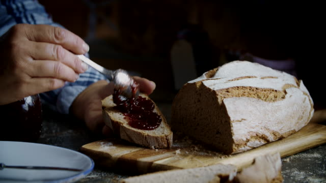 Fresh Homemade Brown Bread with Marmalade