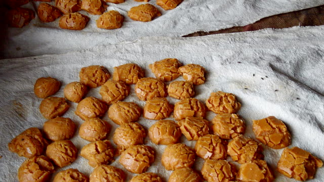 fresh jaggery - molasses stock videos and b-roll footage