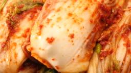 Fresh kimchi in detail