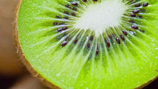 fresh kiwi close up - kiwi fruit stock videos and b-roll footage