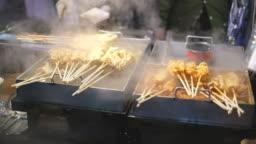 Fresh korean street food at night market