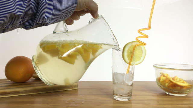 fresh lemonade - home made stock videos and b-roll footage