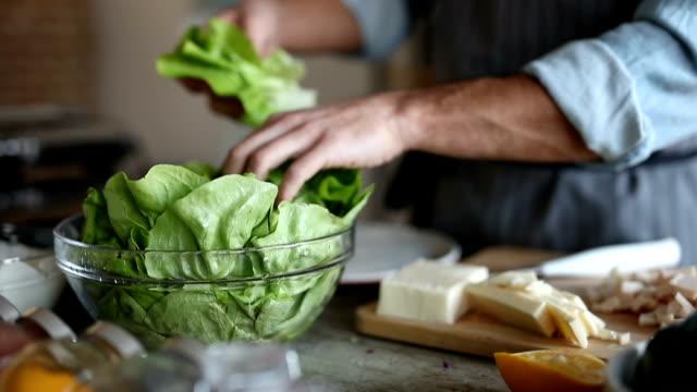 Fresh lettuce for salad