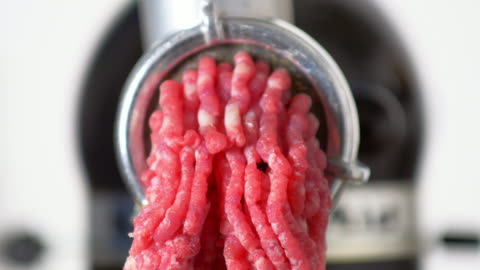 fresh meat coming 0ut of a mincer - raw food stock videos & royalty-free footage