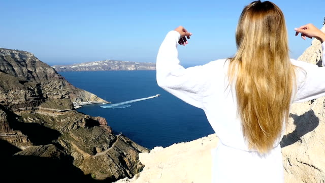fresh morning above the aegean sea - greek islands stock videos and b-roll footage