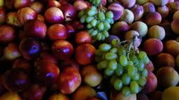 Fresh Nectarines and Peaches on Market Display