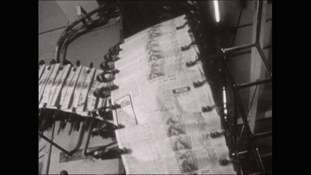 fresh newspapers run off the press production line - journalism stock videos & royalty-free footage