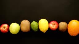 Fresh orange lemon grapefruit is Squeezed Into a Glass. Stop Motion Animation
