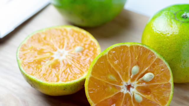 zi:fresh orange slice - slice stock videos & royalty-free footage