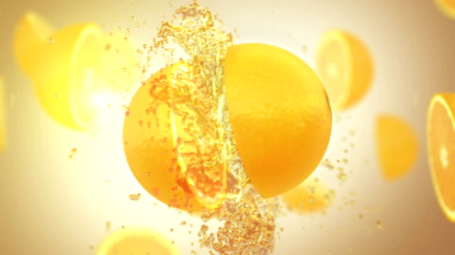 fresh orange (slow motion) - orange stock videos & royalty-free footage