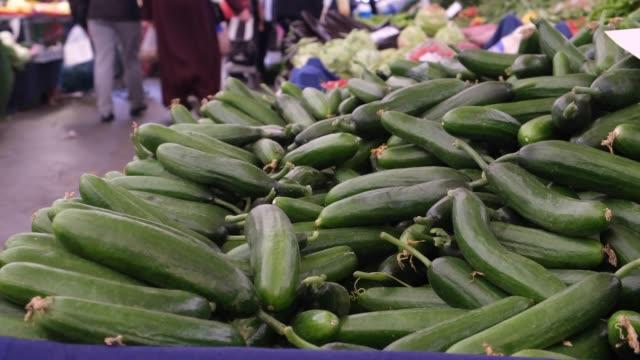fresh organic cucumbers - cucumber stock videos and b-roll footage