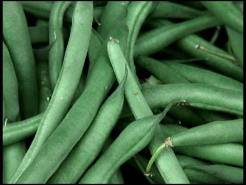 stockvideo's en b-roll-footage met fresh organic green bush beans - sperzieboon